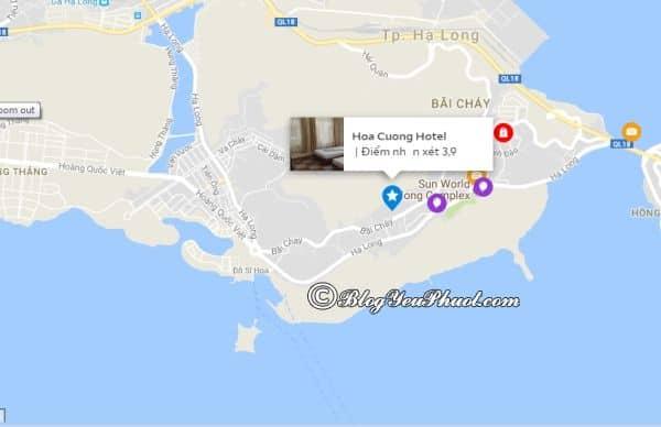 Khách sạn Hoa Cương Hạ Long nằm ở đâu, có gần biển không? Review vị trí khách sạn Hoa Cương Hạ Long
